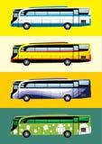 Temas del diseño del autobús Fotos de archivo libres de regalías