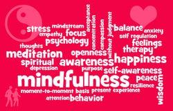 Temas del Mindfulness Imágenes de archivo libres de regalías