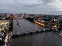 Temas del ojo de Londres, Londres fotografía de archivo