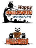 Temas del partido de Halloween Fotografía de archivo
