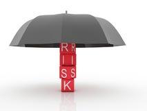 Temas do seguro e do acidente de risco ilustração royalty free