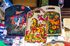 Temas nacionais do russo no folclore Foto de Stock Royalty Free