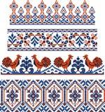 Temas tradicionais ucranianos Fotografia de Stock