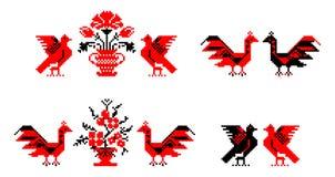 Temas tradicionales rumanos de la alfombra libre illustration