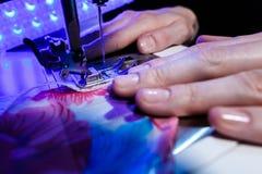 Temat uszycie, szy, dressmaking, szwalna maszyna Obraz Royalty Free