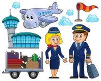 Tematisk uppsättning 1 för flyg vektor illustrationer