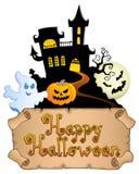Tematu szczęśliwy Halloweenowy wizerunek royalty ilustracja