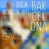 Tematy Barcelona, Hiszpania Obrazy Royalty Free