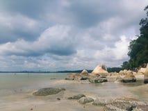 Tembeling海滩 免版税库存图片