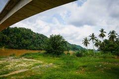 Tembeling flod, Jerantut, Pahang Arkivfoto