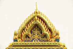 Temble. Door woodcarving in temple, Thailand Royalty Free Stock Photography