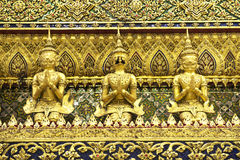 Temble. Giant Thai design in Thailand temple Royalty Free Stock Images
