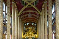 Temble. The gloden image of Buddha in Wat Phra That Nong Bua, Ubonratchathani Thailand Stock Photography