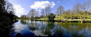 Teme de fleuve de Ludlow image libre de droits