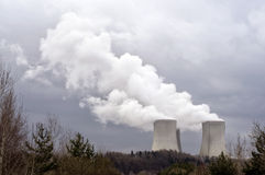 temelin σταθμών πυρηνικής ενέργε& Στοκ εικόνα με δικαίωμα ελεύθερης χρήσης