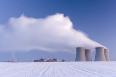 Temelin nuclear power plant Royalty Free Stock Photos