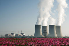 Temelin nuclear power plant Stock Photography