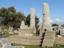 Temenos des Tempels Dionysos in Theos stockfoto