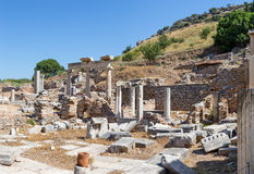 Temenos ruins, Ephesus, Turkey Stock Images