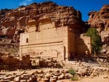 Temenospoort in Petra Rose City, Jordanië De stad van Petra werd verloren meer dan 1000 jaar Stock Afbeeldingen