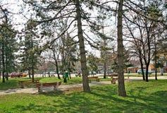 Temerin-Mitte des Stadtparks stockfotografie