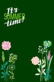 Temi di estate dell'illustrazione di vettore I precedenti dei fiori sono Immagine Stock Libera da Diritti