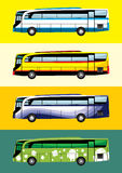 Temi di progettazione del bus Fotografie Stock Libere da Diritti
