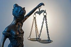 Temida -正义的标志 免版税库存图片