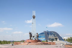 Temirtau, Kazakhstan - by August 13, 2016: Monument to the Metal. Lurgists stock photos