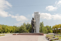 Temirtau, Kazakhstan - August 13, 2016: Monument to the Unknown. Soldier stock photo