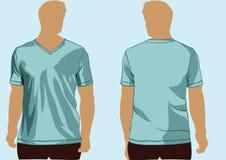 Temlate de T-shirt avec le V-cou Image stock