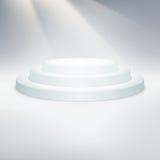 Temlate des weißen Podiums ENV 10 Stockfotos