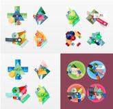Temlates modernes de dessin géométrique, universels Image libre de droits