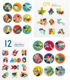 Temlates modernes de dessin géométrique, universels Photo libre de droits