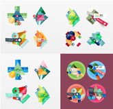 Temlates moderni di progettazione geometrica, universali Immagine Stock Libera da Diritti