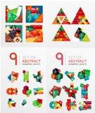 Temlates moderni di progettazione geometrica, universali Fotografie Stock Libere da Diritti