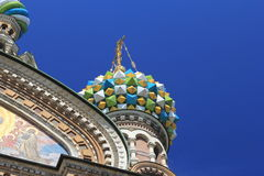 Orthodox Temler. View of Church of the Savior on Blood in Saint Petersburg Royalty Free Stock Image
