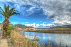 Temo river under a cloudy sky Royalty Free Stock Photo