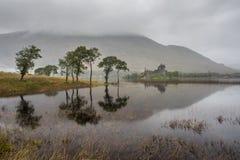 Temor del castillo y del lago de Kilchurn, Escocia foto de archivo libre de regalías
