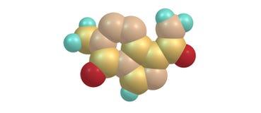 Temozolomide molecular structure isolated on white Royalty Free Stock Photos
