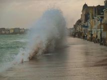 Tempête à Saint Malo photo libre de droits