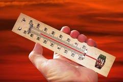 Températures de vague de chaleur Photographie stock libre de droits