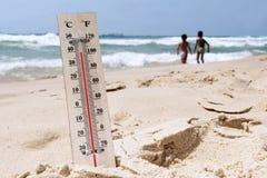 Températures de vague de chaleur image libre de droits