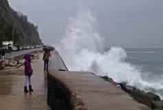 Tempête à Donostia Image libre de droits
