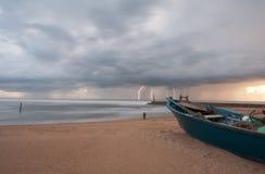 Tempête à la mer Images stock