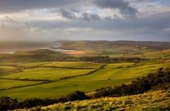 Tempête à la tête de Swyre, Dorset, R-U Images libres de droits