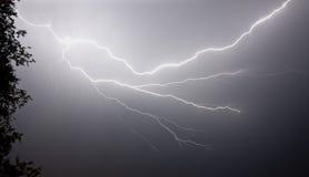 Tempête électrique, vers le haut de fin Image libre de droits