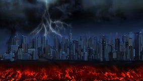 Tempête au-dessus d'une ville illustration libre de droits