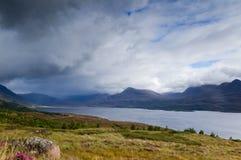 Tempête au-dessus de loch Torridon Photographie stock