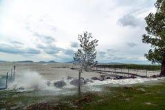 Tempête au-dessus du lac Photos stock